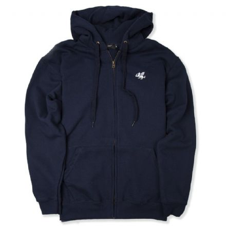 Senlak Zip Hooded Sweatshirt - Dark Navy
